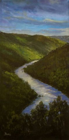 ORIGINAL OIL PAINTING NAPA VALLEY Bumo Landscape impressionist   RIVERS BEND *** #Impressionism