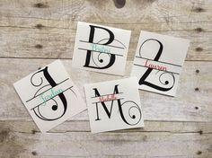 Yeti Monogram Decal-Personalized Yeti-Monogram by RCVinylDesigns