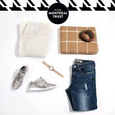 #PMTLook  Un #look tout en #douceur…  A soft look… #OOTD #Fashion #Shopping #Mtl @veromoda #Fossil #LittleBurgundy #AldoAccessoires