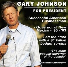 Why Gary Johnson would make a good president