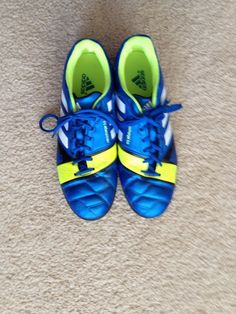ADIDAS Blue/Neon Green Mens Cleats 10 Nitrocharge 3.0 #adidas #Cleats