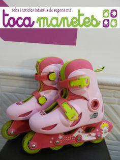 Patines + protecciones de segunda mano. PVP TocaManetes: 18€. http://tocamanetes.com/es/83-patines-en-l%C3%ADnea-protecciones.html
