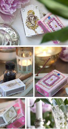 Decorating matchboxes :-)