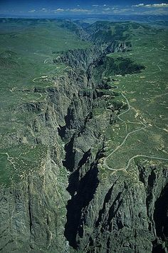 Aerial photo of Black Canyon of the Gunnison, Gunnison County, Colorado, CO United States
