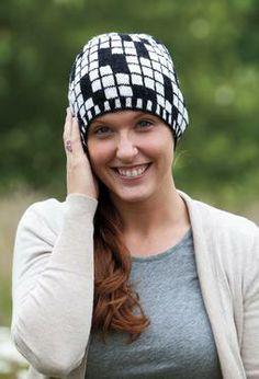 Crossword Hat by Deborah Tomasello