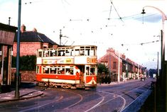 """""""Tram No 24 clanks its way out of Gladstone St onto Roker Avenue bound for the Durham Rd Reserve track September North East England, Light Rail, Gladstone, Sunderland, Durham, Buses, Pop Up, Masters, Britain"""