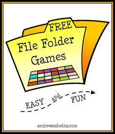Free file folder games preschool folder games, file folder g File Folder Activities, File Folder Games, File Folders, Folder Games For Toddlers, File Folder Organization, Classroom Activities, Learning Activities, Special Education Activities, Classroom Ideas