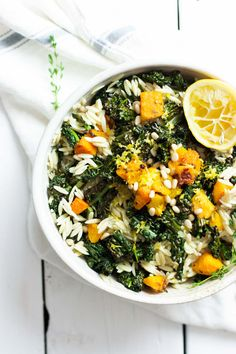 This tasty butternut squash & kale pasta salad is the perfect bridge between seasons. Make ahead for a stress-free weeknight dinner!