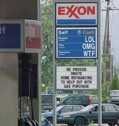With a little financing, we can all afford that next tank of gas. - http://lolsvillage.com/?p=41