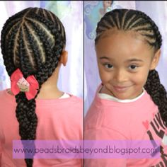 Braid hairstyle - little girl