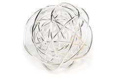 """5"""" Spiral Wire Ball, Silver"""