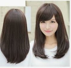 Shoulder haircut styles by greatest best style korean shoulder length hairs Blond Hairstyles, Layered Bob Hairstyles, Haircuts With Bangs, Girl Haircuts, Straight Hairstyles, Asian Hairstyles, Hairstyles 2018, Bangs Hairstyle, Creative Hairstyles