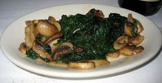 Morton's Steakhouse Copycat Recipes: Spinach and Mushrooms