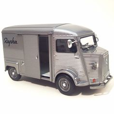 "A 1:24 scale model of @RaphaRacing's Citroën H-Van ""Tin Donkey,"" once used as official Tour de France broom wagon"