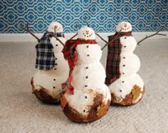Whimsical Snowman, Whimsical Primitive Snowman, Dirty Southern Snowman, OOAK Snowman