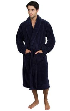 TowelSelections Super Plush Bathrobe - Luxury Spa Robe for Women and Men, Soft and Warm, Made in Turkey, Navy