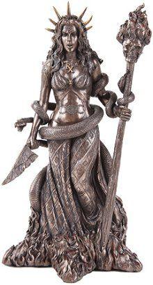 Bronze Hecate Witchcraft Statue