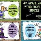 4th Grade Math Word Problem Bundle