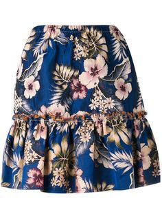 PHILOSOPHY DI LORENZO SERAFINI Floral Ruffled Skirt. #philosophydilorenzoserafini #cloth #skirt
