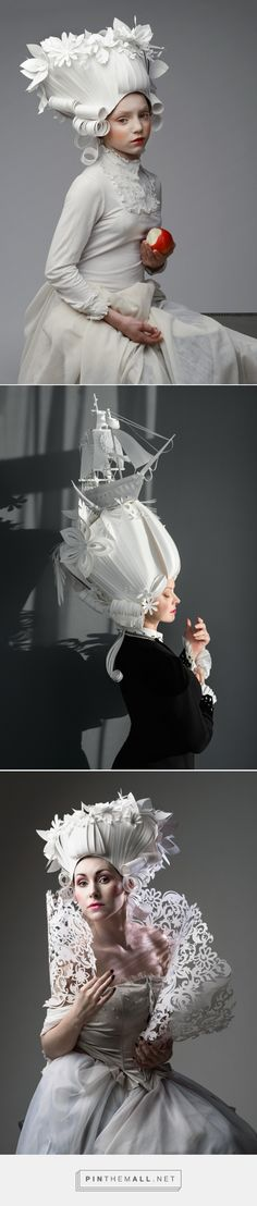 Baroque Paper Wigs: Historical hair pieces made entirely from paper | Creative Boom - created via https://pinthemall.net