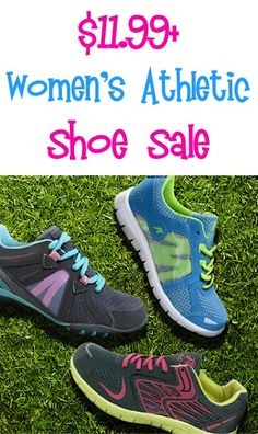 Women's Athletic Shoe Sale: $11.99+! #backtoschool
