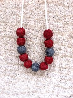 Your place to buy and sell all things handmade How To Make Beads, Crochet Necklace, Buy And Sell, Necklaces, Grey, Handmade, Stuff To Buy, Jewelry, Gray