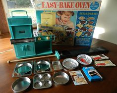 I loved my easy bake oven,I would bake the day away and my little brothers would come eat it all...