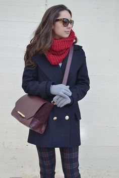 How to wear a navy coat on your outfit : MartaBarcelonaStyle's Blog
