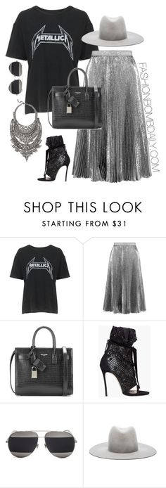 """""""Untitled #1967"""" by dnicoleg ❤ liked on Polyvore featuring Topshop, Christopher Kane, Yves Saint Laurent, Dsquared2, Christian Dior and Janessa Leone"""