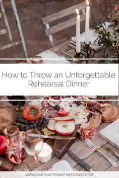 22 Ways to Throw an Unforgettable Rehearsal Dinner Pre Wedding Party, Wedding Rehearsal, Rehearsal Dinners, Plan My Wedding, Budget Wedding, Wedding Planner, Wedding Planning Timeline, Planner Tips, Bridal Salon