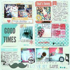 #papercraft #scrapbook #layout   Project Life week 18
