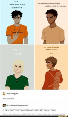 Percy Jackson, Carter Kane, Magnus Chase, Apollo- Percy Jackson- Kane Chronicles- Magnus Chase- Trials of Apollo Percy Jackson Film, Percy Jackson Memes, Percy Jackson Fandom, Percy Jackson Drawings, Apollo Percy Jackson, Magnus Chase, Percabeth, Solangelo, Rick Riordan Series