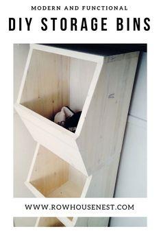 How to create DIY Honeycomb Storage Bins - tutorial Diy Furniture Easy, Diy Furniture Projects, Cool Diy Projects, Woodworking Projects, Man Projects, Furniture Making, Storage Bins, Diy Storage, Diy Organization