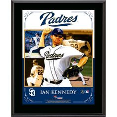 "Ian Kennedy San Diego Padres Fanatics Authentic 10.5"" x 13"" Sublimated Composite Plaque"