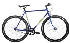 Framed Lifted Bike Fixie Style Single Speed BlueWhiteYellow 52cm ** Check this awesome product by going to the link at the image. (This is an affiliate link) #Bikes