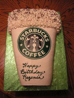 Starbucks Coffee Cup Birthday Cake.... My kind of Cake | We Heart It | birthday, cake, and coffee