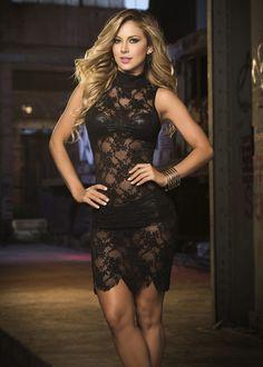 Scalloped Hem Lace Dress #LBD #fashion #lace #sexy