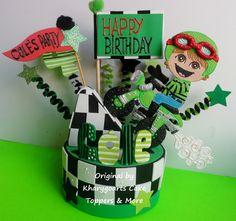 MOTORCYCLE LOOK ALIKE BIRTHDAY CAKE TOPPER