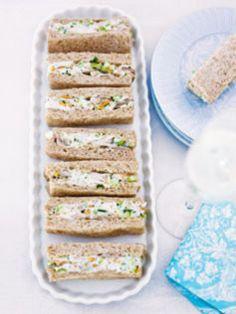 Chicken and almond sandwiches