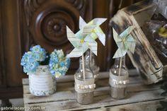 Casamento rústico. Casamento no campo. Decoração DIY. Catavento. Rustic wedding. Pinwheel.