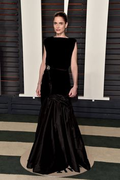 Pin for Later: Don't Miss 1 Single Look From the Oscars Afterparties Amanda Peet Wearing Oscar de la Renta at Vanity Fair's Oscars party.