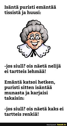 Isäntä puristi emäntää tissistä ja huusi... - HAUSK.in Mood, Humor, Random, Funny, Quotes, Inspiration, Inner Child, Condo Kitchen, Backyard Landscaping