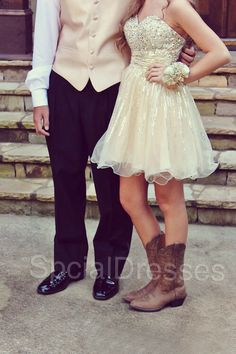 Prom dress love the boots!