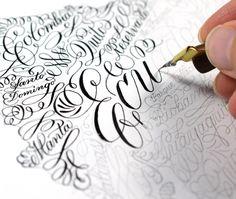 Calligraphy | The Postman's Knock Modern Calligraphy Tutorial, Modern Calligraphy Alphabet, Calligraphy Course, Flourish Calligraphy, Calligraphy Worksheet, Calligraphy Nibs, Calligraphy Supplies, Calligraphy For Beginners, Hand Lettering Alphabet