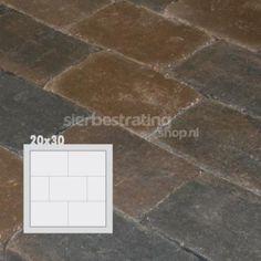 Metro Trommelsteen 20x30x6 cm ... - Metro Trommelsteen - Bestrating - Verouderd & Getrommeld - Bestrating Beton - Sierbestratingshop.nl