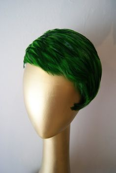 Green Feathered Hat, Xtabay Vintage, Portland, Orgeon