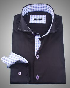 Italian shirts for men | Stylish Back shirt | Italian black napoli