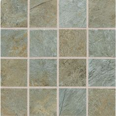 Daltile Franciscan Slate Coastal Azul 12 in. x 12 in. Glazed Porcelain Mosaic Floor and Wall Tile-FS9733MS1P2 at The Home Depot