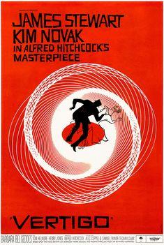 Vertigo by Saul Bass. Massive range of art prints. Text Poster, Poster A3, Movie Poster Art, Alfred Hitchcock, Saul Bass Posters, Film Gif, Movie Film, Iconic Movie Posters, Movie Posters
