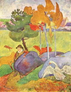Paul Gauguin - Little Breton Boy with a Goose